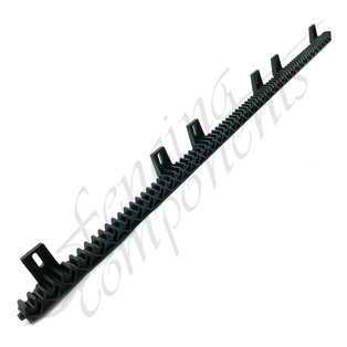 1 Metre 6 Bracket - Nylon Gear Rack (with Metal Core)