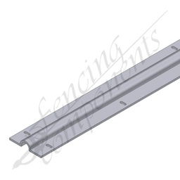[1098-5.8M] 6m Sliding Gate Track (3mm thick) Pre-Gal 20 holes
