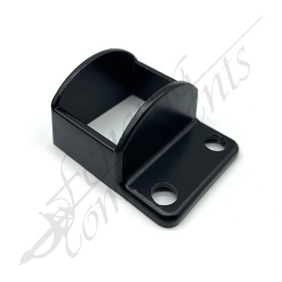 38x25 Pool Fence Bracket Aluminium (Black)
