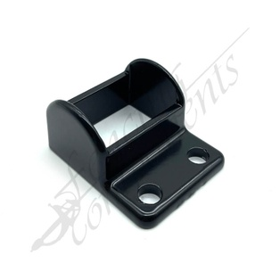 38x25 Pool Fence Bracket Aluminium (Black) - Vertical