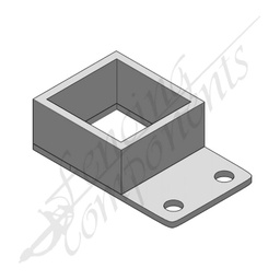 [3005SL-NC] 50x50 Single Lug Fence Bracket Aluminium - Style 2