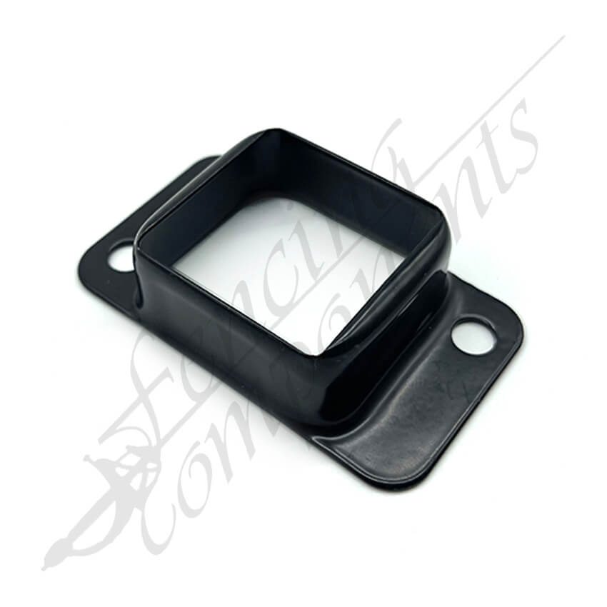 40x40 Fence Bracket Double Sided Zinc Plated (Black)