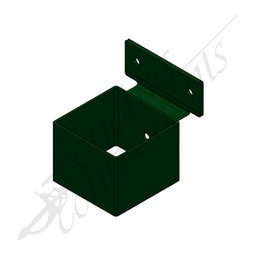 [3321HGR] 40x40 Security Bracket Hot Dip Gal (Heritage Green)