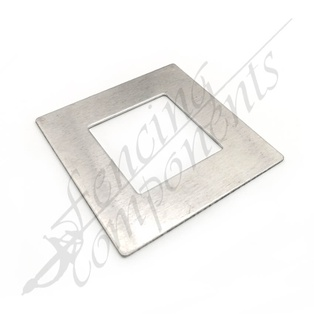 Aluminium Post Cover 50x50 FLAT (Mill)