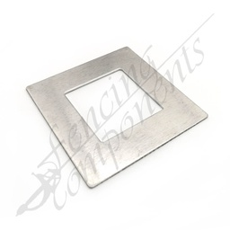 [4306NC] Aluminium Post Cover 50x50 FLAT (Mill)