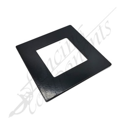 [4306BLK] Aluminium Post Cover 50x50 FLAT (Black)