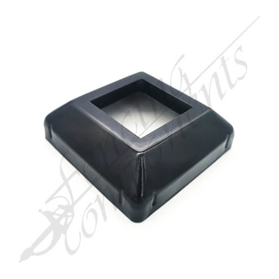 Post Cover 50x50 Peak Style Gal Steel (Satin Black)
