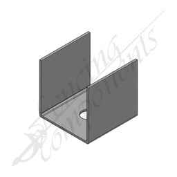[8041] U Bracket for 50x50 post Galvanised steel