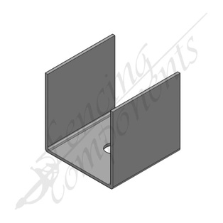 U Bracket for 65x65 post Galvanised steel