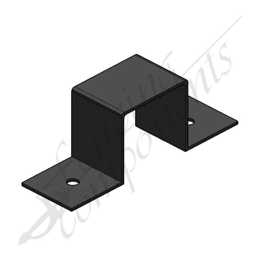Saddle Bracket 65x65mm (Black)