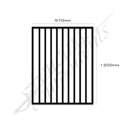 [BPG-9712B] Steel Gate 970x1200H (Texture Black)