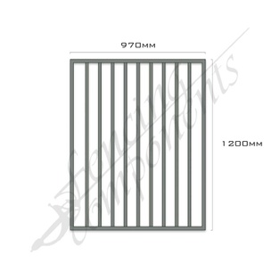 Gate Aluminium FLAT TOP 970W x 1.2H (Woodland Grey)