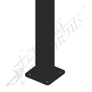 65x65x2200 2.2m Steel Post (Satin Black) w/Feet