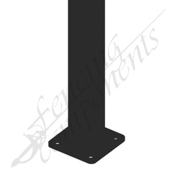[PBLK6522-FT] 65x65x2200 2.2m Steel Post (Satin Black) w/Feet