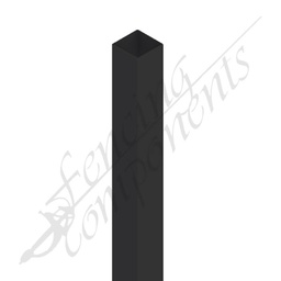 [PBLK653025] 65x65x3000 Steel Post (Satin Black) 2.5mm #13