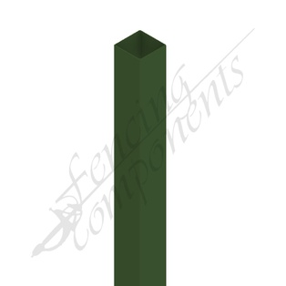 65x65x3000 3.0m Steel Post (Heritage Green)