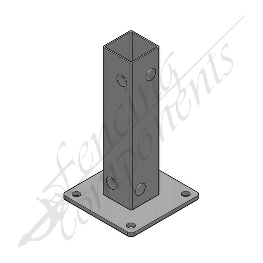 Post Bracket 50x50x1.6 / 100x100 Baseplate (#8020a)