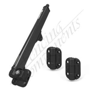 Safetech Pool Gate Latch + Adj. Tension Gate Hinge (No Leg)