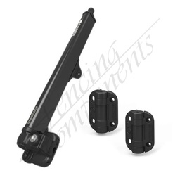 [ST5090] Safetech Pool Gate Latch + Adj. Tension Gate Hinge (No Leg)