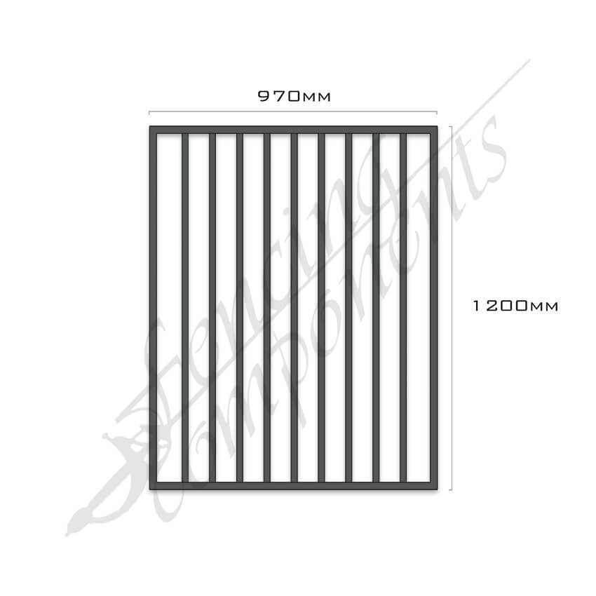 Gate Aluminium FLAT TOP 970W x 1.2H (Monument)